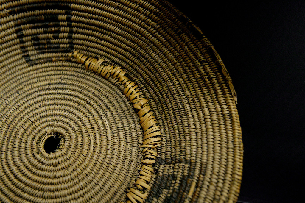 . DENVER, CO. - NOVEMBER 15:  A coiled Pueblo ring basket made of willow and yucca is displayed in the Living West exhibit at the  History Colorado Center in Denver, CO November 15, 2013. The 7,000-square-foot exhibit opens November 23 and and is divided into three sections, Mesa Verde, the Dust Bowl and Our Mountains. (Photo By Craig F. Walker / The Denver Post)