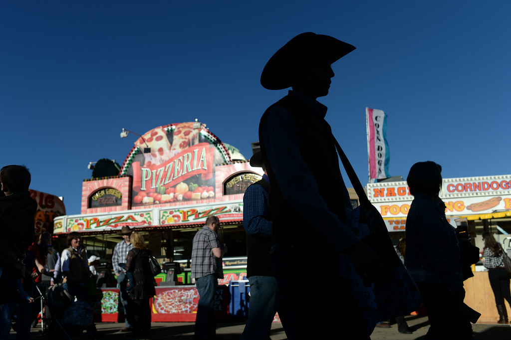 . DENVER, CO. JANUARY 25: People are head to the Coliseum at the National Western Stock Show in Denver, Colorado January 25, 2014.  (Photo by Hyoung Chang/The Denver Post)