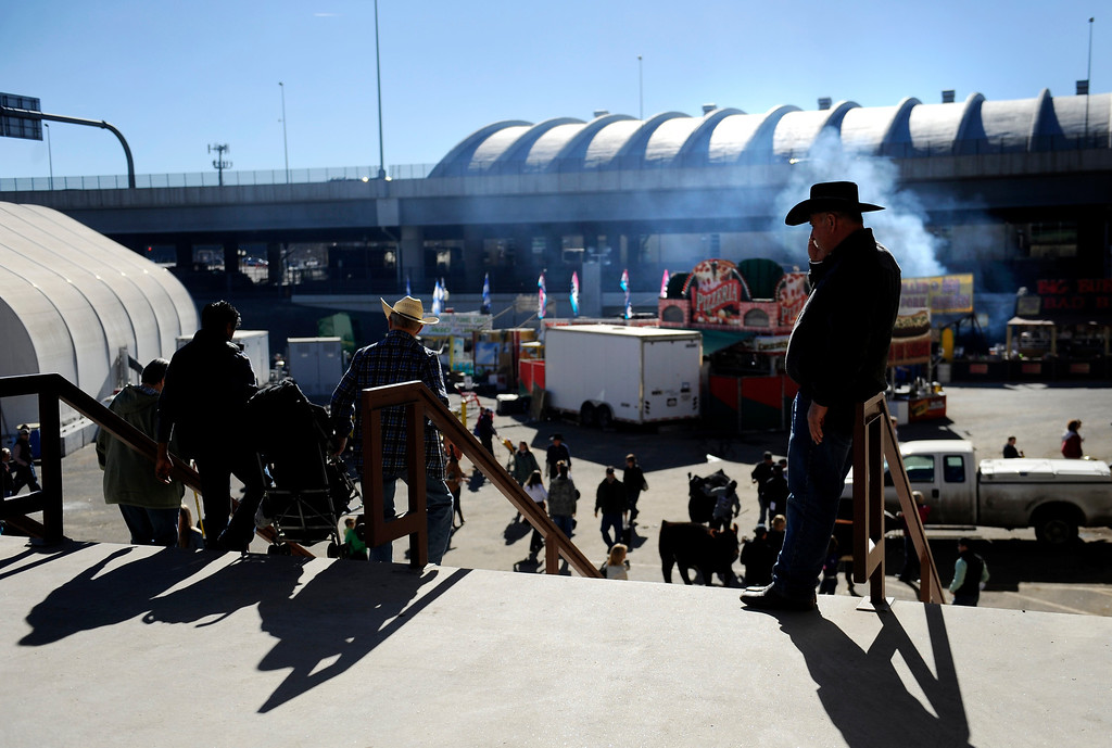 . People gather for the National Western Stock Show on Jan. 19 at the Denver Coliseum to shop, eat and watch shows and competitions. Photo by Jamie Cotten, Special to The Denver Post