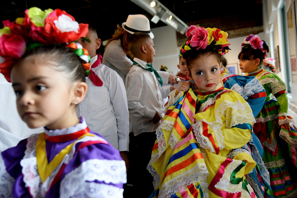 . Amerie Herrera, 4, waits to take the dance floor. The Día del Niño celebration of culture on Sunday, April 27, 2014. (Photo By AAron Ontiveroz/ The Denver Post)