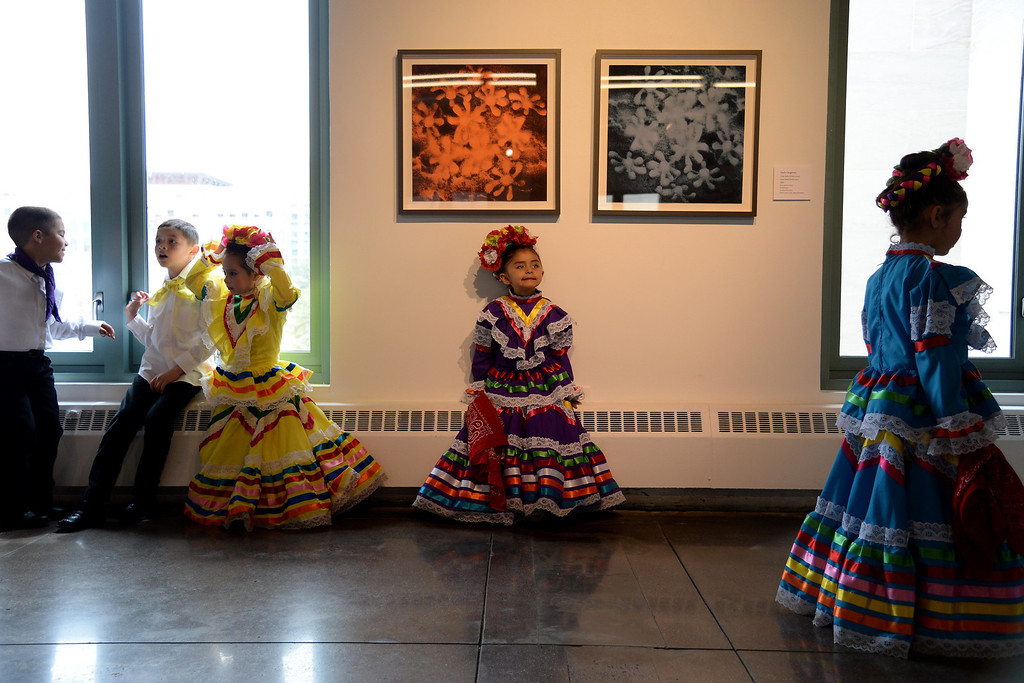 . Students from Lisa T\'s Dance Academy wait back stage. The Día del Niño celebration of culture on Sunday, April 27, 2014. (Photo By AAron Ontiveroz/ The Denver Post)