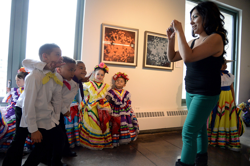 . Performers from Lisa T\'s Dance Academy wait to take the dance floor. The Día del Niño celebration of culture on Sunday, April 27, 2014. (Photo By AAron Ontiveroz/ The Denver Post)
