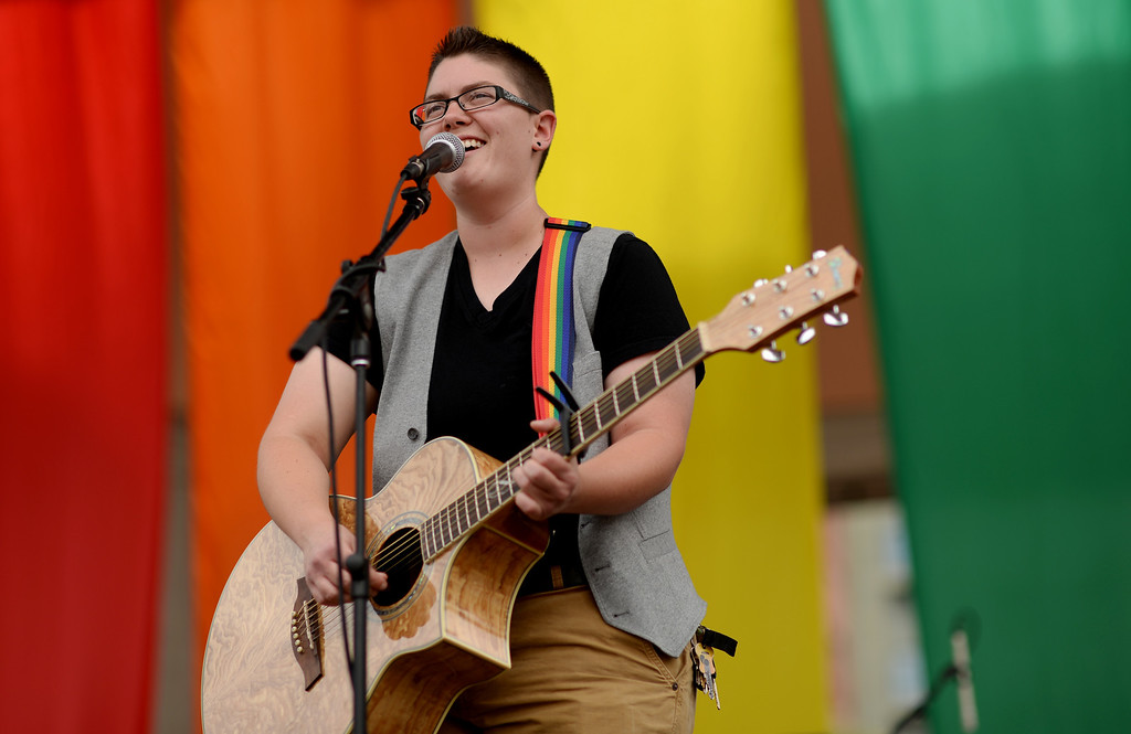 . DENVER JUNE 21: Sam Hozdulick is performing at Civic Center Park in Denver, Colorado June 21, 2014. (Photo by Hyoung Chang/The Denver Post)