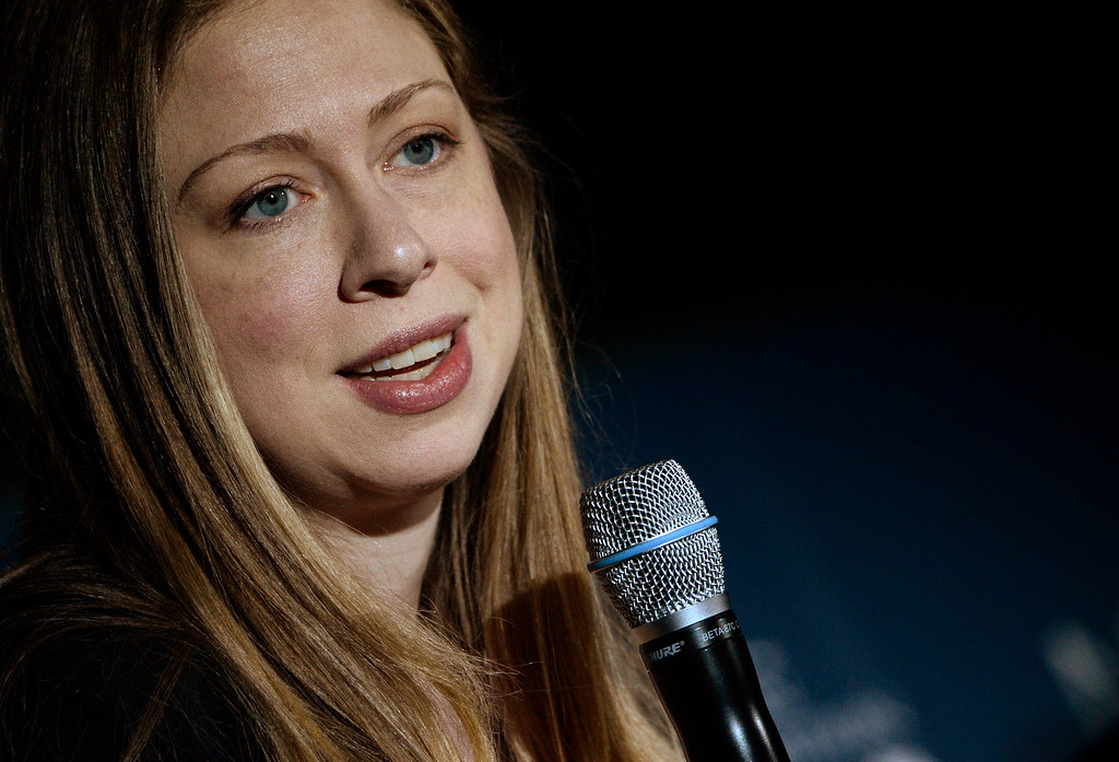 . Chelsea Clinton host from STEM to success: A No Ceilings Conversation at the Denver Museum of Nature and Science Planetarium, June 23, 2014. The discussion focused attracting girls and women to scientific and technological fields. (Photo by RJ Sangosti/The Denver Post)