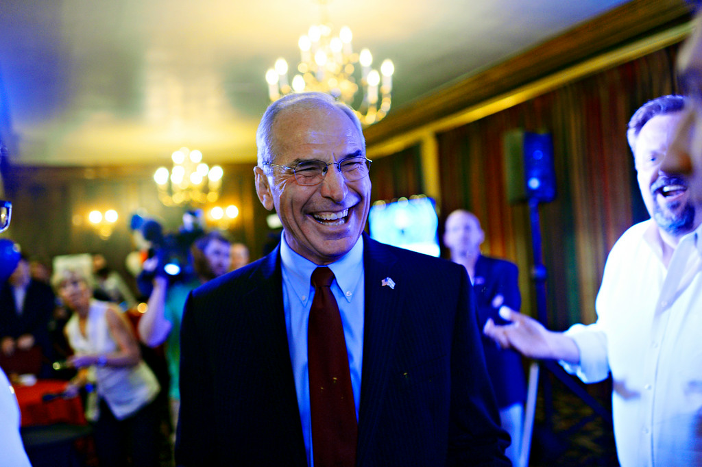 . Gubernatorial candidate Bob Beauprez is in Denver Athletic Club to see his supporters. Colorado Republicans are choosing among four candidates for a nominee to challenge Democratic Gov. John Hickenlooper. Denver, Colorado. June 24. 2014. (Photo by Hyoung Chang/The Denver Post)