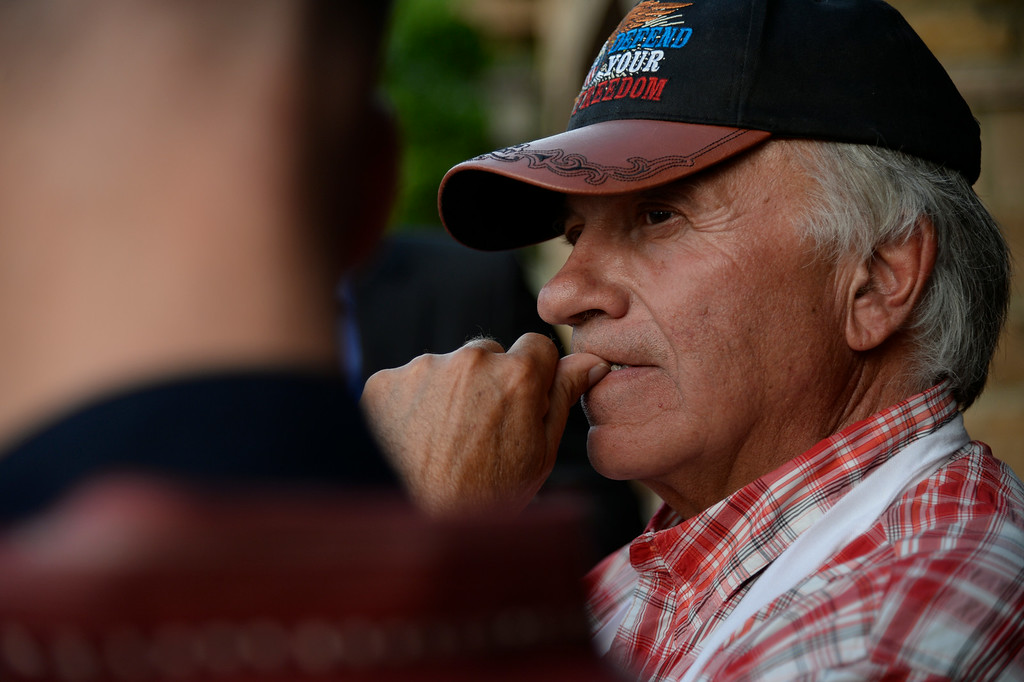 . Tom Tancredo contemplates as he falls behind during his Republican gubernatorial primary watch party. Tom Tancredo watch party on Tuesday, June 24, 2014. (Photo by AAron Ontiveroz/The Denver Post)