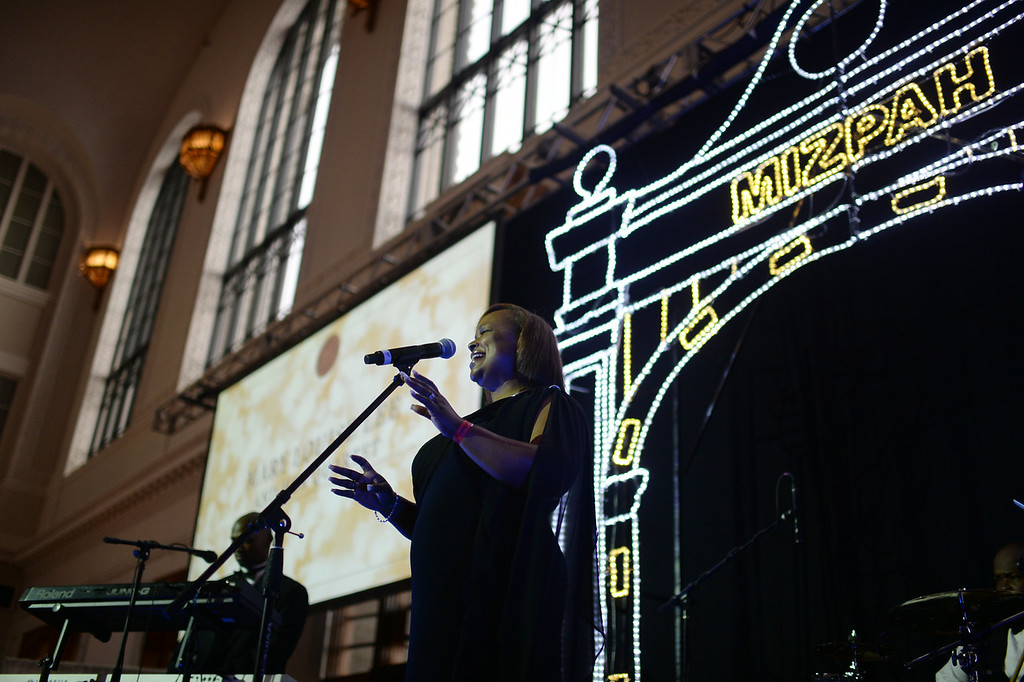 . DENVER, CO - JULY 11: Mary Louise Lee & Her Full Quartet perform during the Denver Union Station Great Hall Gala in Denver, Colorado July 11, 2014. Union Station is opening with the gala for 1,000 people paying $1,000 each to benefit 55 local charities. (Photo by Hyoung Chang/The Denver Post)