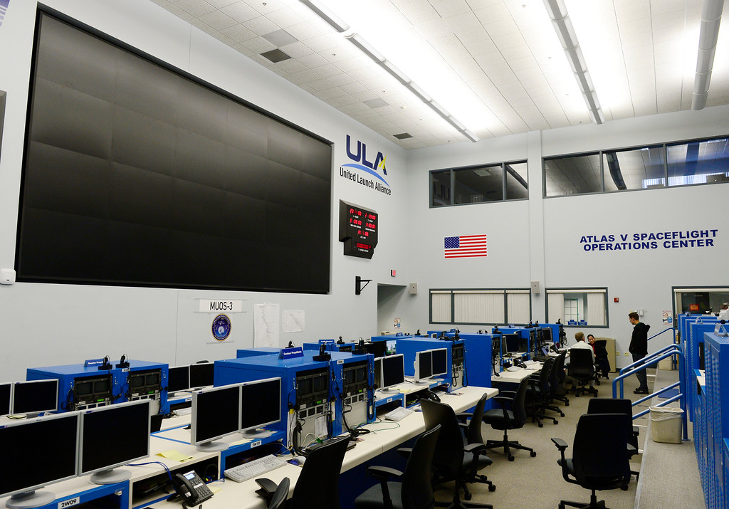 ". CAPE CANAVERAL, FL - December 1: The Atlas Operations Center, which was used in the firming of ""Transformers: Dark of the Moon\"", handles all of the Atlas launches Monday, December 1, 2014 at United Launch Alliance launch facilities at the Cape Canaveral Air Force Station in Cape Canaveral, Florida. United Launch Alliance, which is headquartered in Centennial, is preparing the final steps before the launching of the Orion spacecraft for Exploration Flight Test-1. The mission is part of a series of missions with the hopes of being able to land humans on asteroids and Mars. (Photo By Brent Lewis/The Denver Post)"