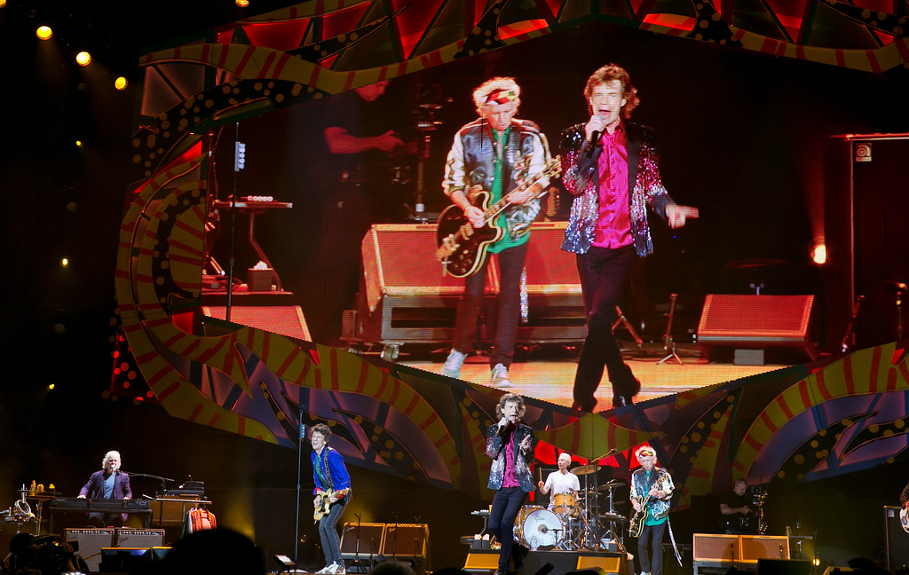 . Keith Richards plays his guitar as the Rolling Stones perform in Havana, Cuba, Friday March 25, 2016. The Stones are performing in a free concert in Havana Friday, becoming the most famous act to play Cuba since its 1959 revolution. (AP Photo/Enric Marti)