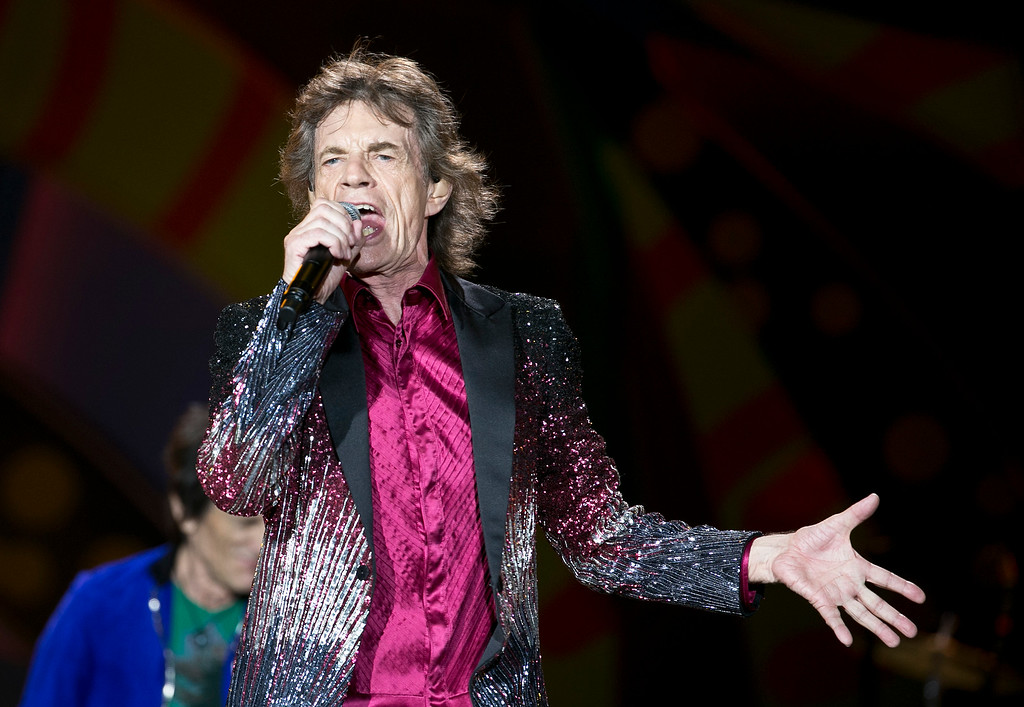. Stones\' lead singer Mick Jagger performs in Havana, Cuba, Friday March 25, 2016. The Stones are performing in a free concert in Havana Friday, becoming the most famous act to play Cuba since its 1959 revolution. (AP Photo/Enric Marti)