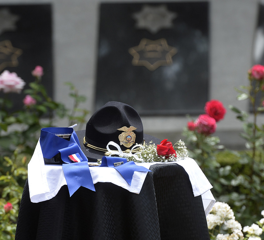 . Law Enforcement personnel from around Solano County pay their respects to the 19 fallen peace officers who were killed in the line of duty on Solano County during the 2018 Peace Officer\'s Memorial. Joel Rosenbaum -- The Reporter