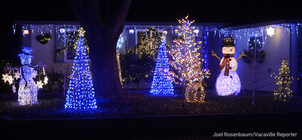 . Driving around Vacaville one can find colorful Christmas displays including this one along Whitehall Way.