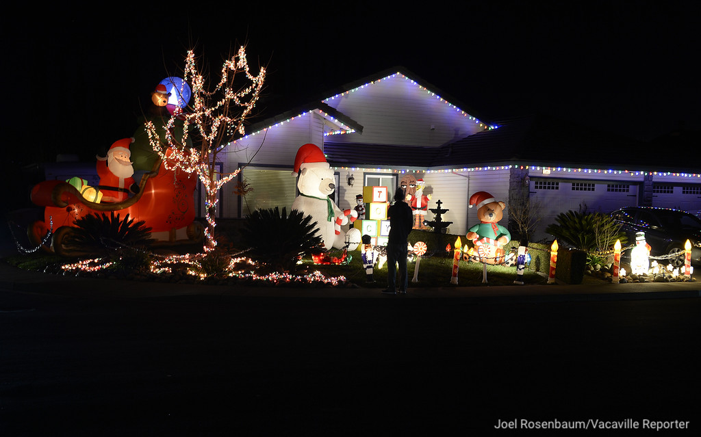 ". The Pippin family\'s home on 500 block of Shady Glen Avenue features a wide variety of holiday themed inflatables from Santa in sleigh, to multiple teddy bears, children\'s blocks and even Big Big and takes about three days to set up. According to Danielle Pippin, ""The best part about it all, is when someone says thank you when they see us, and comment about how much they love our house.\"""