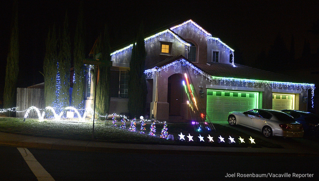 . For many years, Dito Milan has been entertaining visitors to his home on Monaghan Circle in Vacaville with a light show that is sequenced with music. Milan also has light displays for Halloween and Fourth of July.