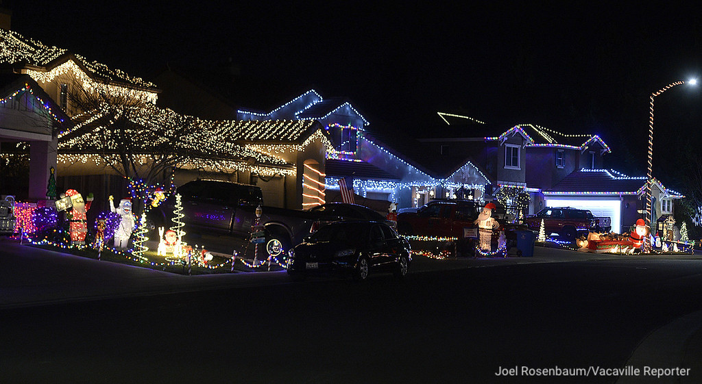 """. The residents of Rehrmann Drive in Dixon renamed their neighborhood for the holiday calling it \""""Dixon\'s North Pole.\"""" Many of the homes having elaborate displays. They also help the community by holding food drives asking visitors to bring canned food."""