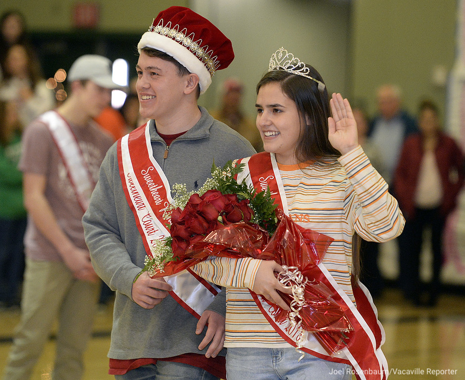 . Dixon High School seniors Matthew Roco, 17 and Taylor Garcia, 17 were crowned the king and queen of the Sweetheart\'s Rally Friday at the school.