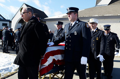 Erica Miller @togianphotog	- The Saratogian, The funeral of a dedicated fireman, Louis Pasquarell Sr. of Jonesville Fire Department was laid to rest on Friday, Jan. 24th, 2014. He served 77 years as a fireman. The funeral was held at the Corpus Christi Church, Ushers 2001 Route 9, Round Lake.