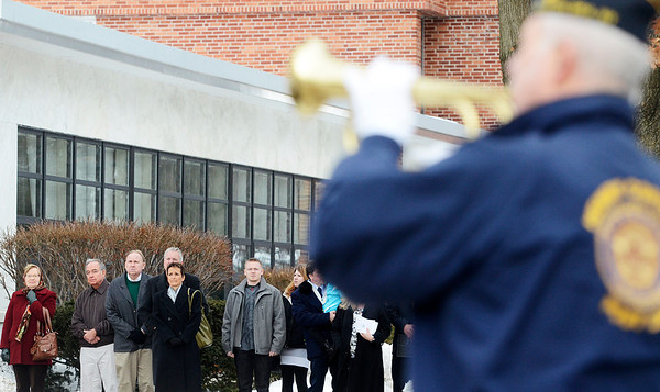 "Erica Miller @togianphotog - The Saratogian:   At the Saratoga County Board of Supervisors the flag is risen while TAPs is played during the honoring ceremony for their father Joseph Kalinkewicz at the Saratoga County ""Honoring Our Deceased Veterans"" Ceremony held monthly."