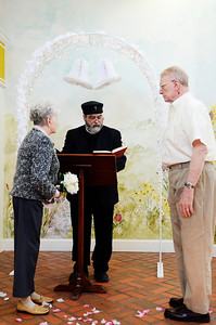 Erica Miller @togianphotog - The Saratogian: 2/25/14    At the Beacon Pointe Memory Care Community in Clifton Park, father John Henry of St. George's Episcopal Church was honored to renew wedding vows with three couples. Residents Wilbert and Phyllis Janos at the alter.