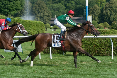 Eric Jenks - The Saratogian: Cornelio Velasquez and Cat's Claw took the victory in the eleventh running of the Fasig-Tipton Waya Sunday, August 3, 2014 at the Saratoga Race Course.