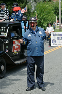 Eric Jenks - The Saratogian Ron Williams of the Glens Falls Shrine Club during the Schuylerville Turning Point Parade Sunday, August 3, 2014.