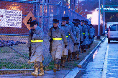 Erica Miller @togianphotog - The Saratogian:     The long day of flying traveling from Saratoga Springs NY to Parris Island, SC, came to and end as we arrived at the Marines Corps Recruit Depot on Tuesday, February 11th, 2014.  Our first full day at Parris Island occurred Wednesday at 6:30 a.m. women, whom are only trained here, make their morning duties. We, the Recruit Station based from Albany and a group from Pittsburg, traveled on two separate busses to enjoy a nice buffet meal at the station.