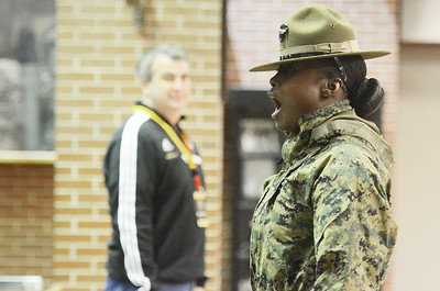 Erica Miller @togianphotog - The Saratogian:     The long day of flying traveling from Saratoga Springs NY to Parris Island, SC, came to and end as we arrived at the Marines Corps Recruit Depot on Tuesday, February 11th, 2014.  Our first full day at Parris Island occurred Wednesday at 6:30 a.m. Drill Instructor Staff Sgt. Cheryle Milton addressed the Educators. We, the Recruit Station based from Albany and a group from Pittsburg, traveled on two separate busses to enjoy a nice buffet meal at the station.