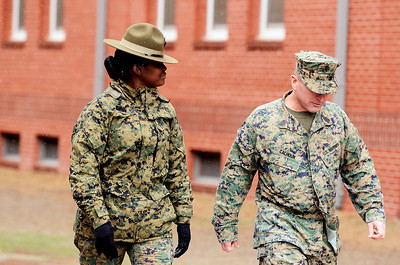 Erica Miller @togianphotog - The Saratogian:     The long day of flying traveling from Saratoga Springs NY to Parris Island, SC, came to and end as we arrived at the Marines Corps Recruit Depot on Tuesday, February 11th, 2014.  Our first full day at Parris Island occurred Wednesday, Staff Sgt. Cheryle Milton left the housing Platoon 3 with Recruiting station Albany Sgt. Mgr. John Calhoun. We, the Recruit Station based from Albany and a group from Pittsburg, traveled on two separate busses to enjoy a nice buffet meal at the station.