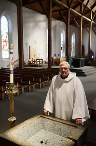 Erica Miller @togianphotog - The Saratogian:    Father Dominic Ingemie of the St. Peter's Church on Broadway in Saratoga Springs, is set to retire on February 28th, 2014. Father has been at the church for 10 years, ordained in Dec. 21st 1967.