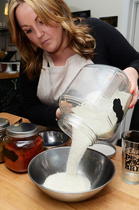 Erica Miller @togianphotog - The Saratogian: Nestled in the back kitchen of Zest, in Ballston Spa on Science Street, CEO and Salt Chef Kerri Tanner stirred up one of their delicious Brew Salts they create. The business is new engaging people to put organic flavored beer salts in their drinks, or even desserts.