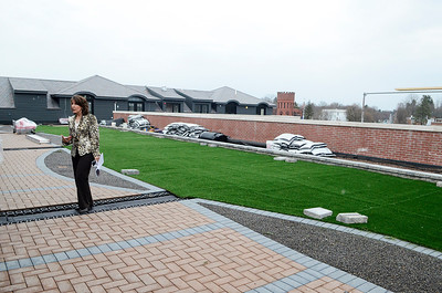 Erica Miller @togianphotog - The Saratogian:  The General Manager Susanne Simpson of the Pavilion Grand Hotel gave The Saratogian a grand tour of their new hotel in Saratoga Springs on Lake Ave. The hotel is hoped to open the first week in May, view from the 5th floor patios which will be seperated.