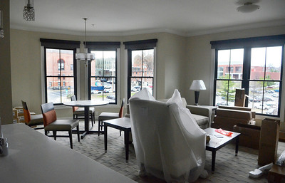 Erica Miller @togianphotog - The Saratogian:  The General Manager Susanne Simpson of the Pavilion Grand Hotel gave The Saratogian a grand tour of their new hotel in Saratoga Springs on Lake Ave. The hotel is hoped to open the first week in May.