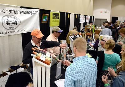 Ed Burke - The Saratogian 04/19/14 Guests attend the Taste of Upstate Wine, Food and Music Festival Saturday at the Saratoga Springs City Center.