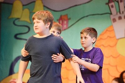 "Chelsea Plagenza - The Saratogian:   At Lake Ave Elementary school in Saratoga Springs, on March 20th, the high school students performed part of their upcoming play ""Footloose""  for the drama kids at Lake Ave. After their performance, the Lake Ave students, grades 3 to 5, performed part of their play ""Musicville""."