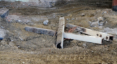 Erica Miller @togianphoto - The Saratogian.      Construction started in June at the Malta Ave Elementary School. New steel beams were placed into the building as they gutted all the interior. Supports were built to keep the exterior of the building in-tacked. New steel beams will be placed in while building all three stories classrooms.       SAR-l-MaltaAveElem5