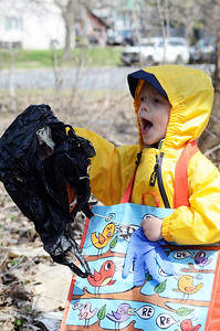 "Erica Miller @togianphotog - The Saratogian: students from  Pre-K In The Park in Saratoga Springs  hit the streets on Friday, April 25th  to clean up the sidewalks in Franklin square. This was the school's first year hosting a ""Clean Up Saratoga"" program as 16 children from ages 3-5 celebrated Earth Day."