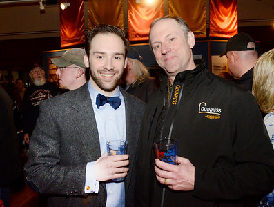 Ed Burke - The Saratogian 03/28/14 Celebrating his 21st birthday, Eamonn O'Donnell of Wilton, joins his father Paul for a craft beer during Friday's Night at The Brewseum fundraiser at the New York State Military Museum. The event was sponsored by Friends of the New York State Museum and the Saratoga Lions Club.