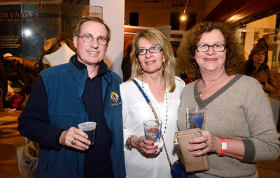 Ed Burke - The Saratogian 03/28/14 From left: Bruce Clements, Mary Martini-Faith and Paula Gold attend Friday's Night at The Brewseum fundraiser at the New York State Military Museum. The event was sponsored by Friends of the New York State Museum and the Saratoga Lions Club.