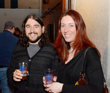 Ed Burke - The Saratogian 03/28/14 Jon Laurin and Allison Darbee Laurin of Queensbury attend Friday's Night at The Brewseum fundraiser at the New York State Military Museum. The event was sponsored by Friends of the New York State Museum and the Saratoga Lions Club.