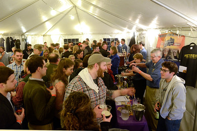 Ed Burke - The Saratogian 03/28/14 Patrons pack the outdoor tent during Friday's Night at The Brewseum fundraiser at the New York State Military Museum. The event was sponsored by Friends of the New York State Museum and the Saratoga Lions Club.