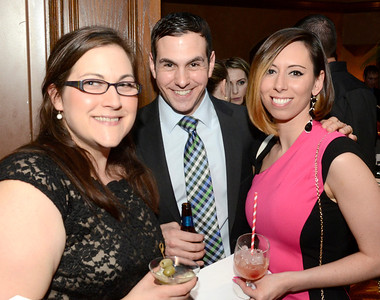 Ed Burke - The Saratogian 03/22/14 From left: Stephanie Schroder-Loveland, and David and Shannon Martin attend Saturday's Treasure Island Birthday Bash fundraiser for the Children's Museum at Saratoga National Golf Club. Stephanie and David are board members of the museum.