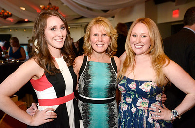Ed Burke - The Saratogian 04/24/14 Event co-chairs Fran Dingeman and daughters Ashley, left, and Erica at the Cocktails & Couture event Thursday at Saratoga National. The event raises money for the Juvenile Diabetes Research Foundation.