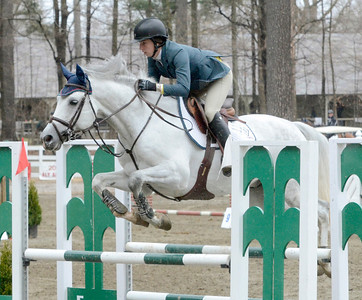 Ed Burke - The Saratogian 04/30/14 Casstess HBC carries rider Addison Gierkink over a fence during opening day of the Saratoga Springs Horse Show.