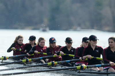 Erica Miller @togianphotog - The Saratogian:    On Saturday April 26th, 2014, on Saratoga Lake, Saratoga Rowing Association held the Saratoga Invitational as Burnt Hils - Ballston Lake made it through on the Race 46 in the Women's Freshmen 8+.