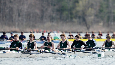 Erica Miller @togianphotog - The Saratogian:    On Saturday April 26th, 2014, on Saratoga Lake, Saratoga Rowing Association held the Saratoga Invitational as Shenendehowa made it through on the Race 47 in the men's Freshmen 8+.