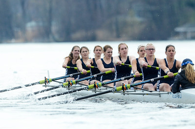 Erica Miller @togianphotog - The Saratogian:    On Saturday April 26th, 2014, on Saratoga Lake, Saratoga Rowing Association held the Saratoga Invitational as Saratoga made it through on the Race 46 in the Women's Freshmen 8+.
