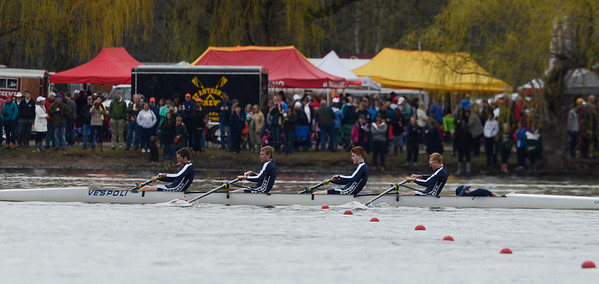 Erica Miller @togianphotog - The Saratogian:    On Saturday April 26th, 2014, on Saratoga Lake, Saratoga Rowing Association held the Saratoga Invitational as Saratoga made it through on the Race 42 Mens Varsity 4+.