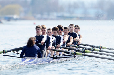 Erica Miller @togianphotog - The Saratogian:    On Saturday April 26th, 2014, on Saratoga Lake, Saratoga Rowing Association held the Saratoga Invitational as Saratoga made it through on the Race 47 in the men's Freshmen 8+.