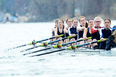 Erica Miller @togianphotog - The Saratogian:    On Sunday April 27th, 2014, on Saratoga Lake, Saratoga Rowing Association held the Saratoga Invitational as Saratoga's made it through on the Race 78s in the Women's 3v-4v-5v Eight.