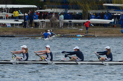 Erica Miller @togianphotog - The Saratogian:    On Sunday April 27th, 2014, on Saratoga Lake, Saratoga Rowing Association held the Saratoga Invitational as Saratoga's made it through in the Women's Middle School 4x.